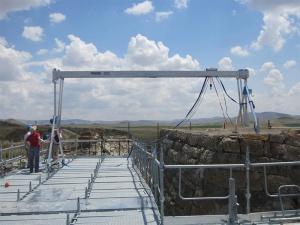 Schilling Alüminyum Köprü Vinçler Gordion Kazısında